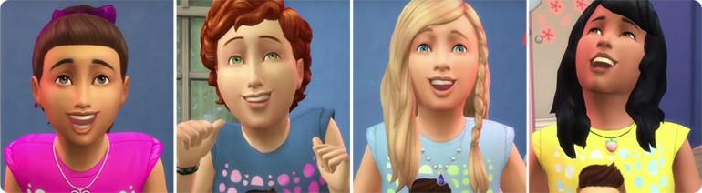Die Sims 4 Kinderzimmer-Accessoires mit neuen Frisuren