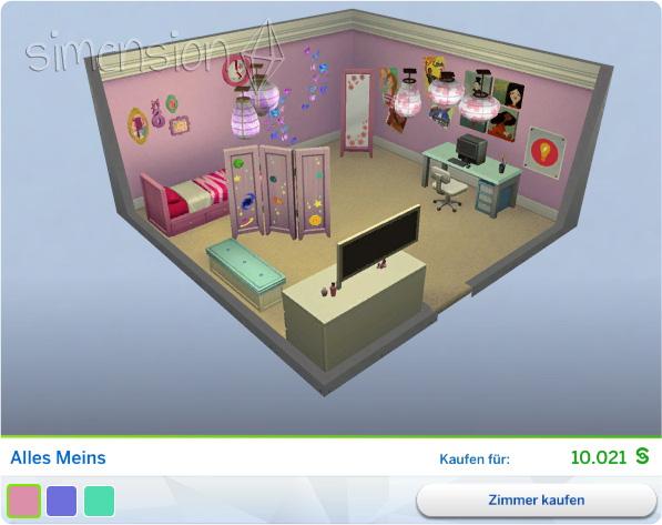 Gestaltetes Zimmer Alles meins in Die Sims 4 Kinderzimmer-Accessoires