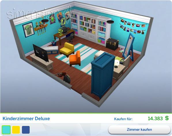 Gestaltetes Zimmer Kinderzimmer Deluxe In Die Sims 4 Kinderzimmer  Accessoires