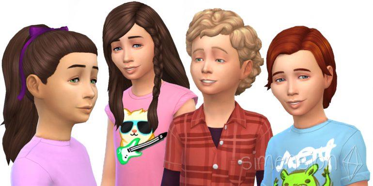 Die Sims 4 Kinderzimmer-Accessoires mit 4 neuen Frisuren