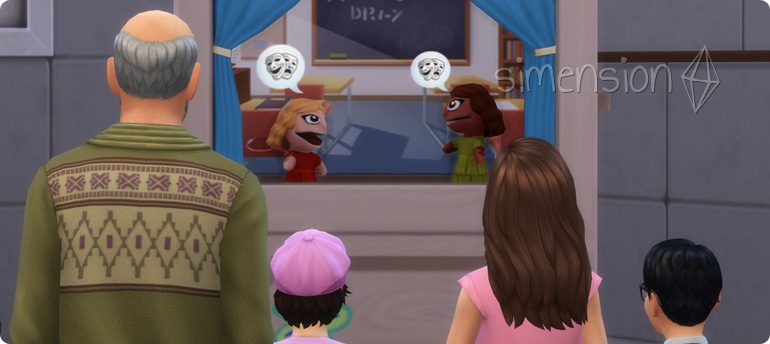 Aufführung am Puppentheater in Die Sims 4 Kinderzimmer-Accessoires
