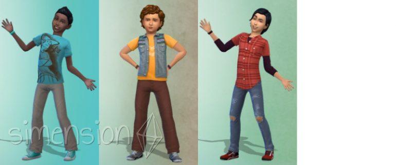 Vorgefertigte Looks für Jungen in Die Sims 4 Kinderzimmer-Accessoires