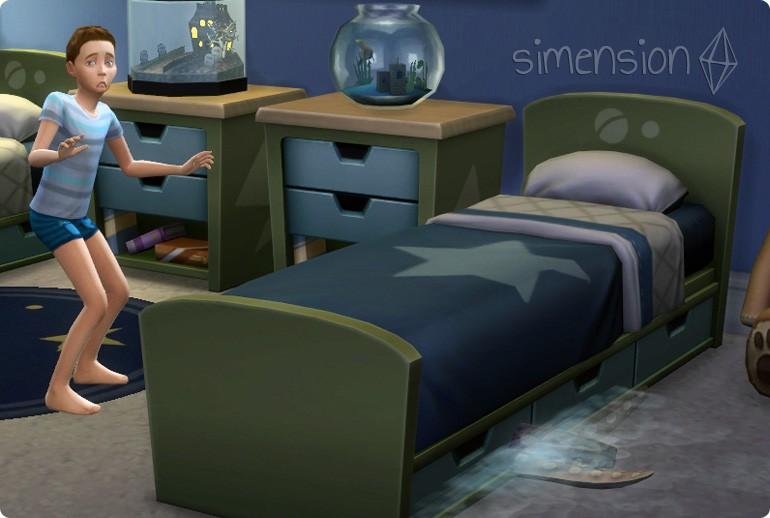 Monstern unter dem Bett in Die Sims 4
