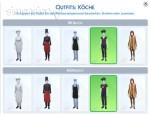 maximal 5 Dienstkleidungen für Restaurant-Angestellte sind möglich in Die Sims 4 Gaumenfreuden