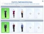 Outfit-Vorgaben für Empfangspersonal in Die Sims 4 Gaumenfreuden