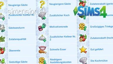 Die Sims 4 Restaurant-Vorteile