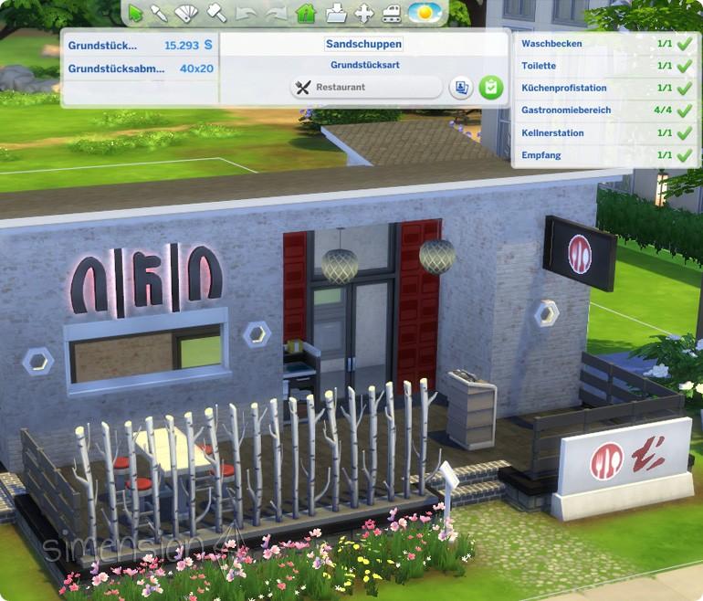 Die Sims 4 Restaurants mit Mindestanforderungen