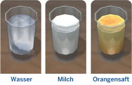 Speisekarten mit Getränken für Simskinder in Die Sims 4