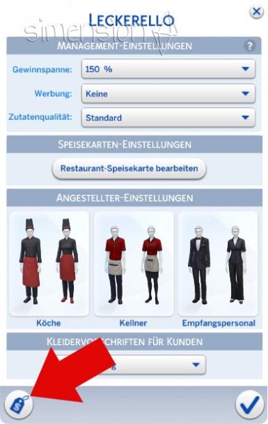 Restaurants verkaufen in Die Sims 4 Gaumenfreuden