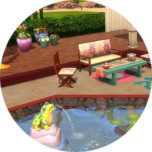 Möbel und Dekorationen in Die Sims 4 Gartenspaß-Accessoires