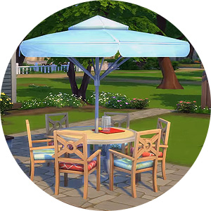 runder Tisch für sechs Sims in Die Sims 4 Gartenspaß-Accessoires