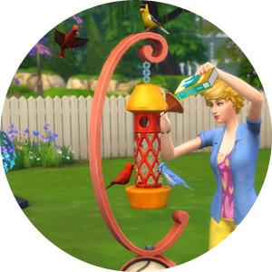 Vogelfutter-Häuschen in Die Sims 4 Gartenspaß-Accessoires