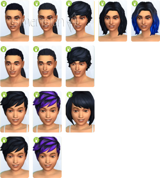 neue Frisuren in Die Sims 4 Gartenspass