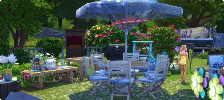 Tisch für sechs Sims in Die Sims 4 Gartenspaß-Accessoires