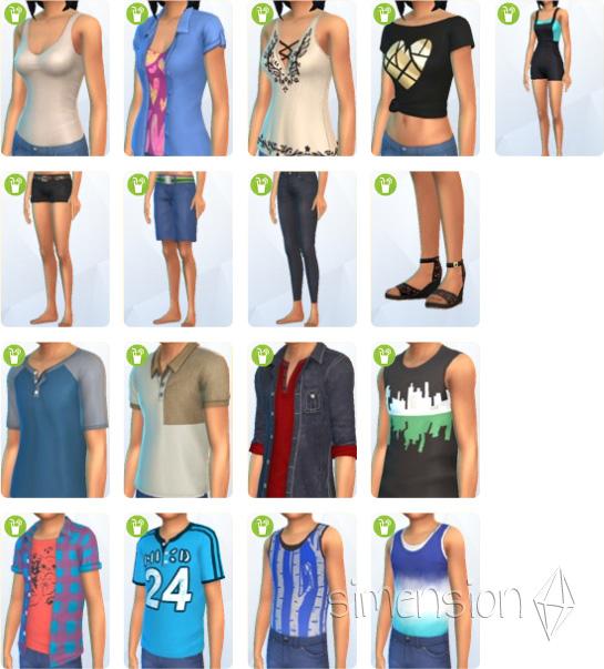 CaS | Erstelle einen Sim mit neuer Kleidung in Die Sims 4 Gartenspass-Accessoires