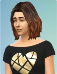 halblange Haare für Simsfrauen mit Strähnchen in Die Sims 4 Gartenspaß