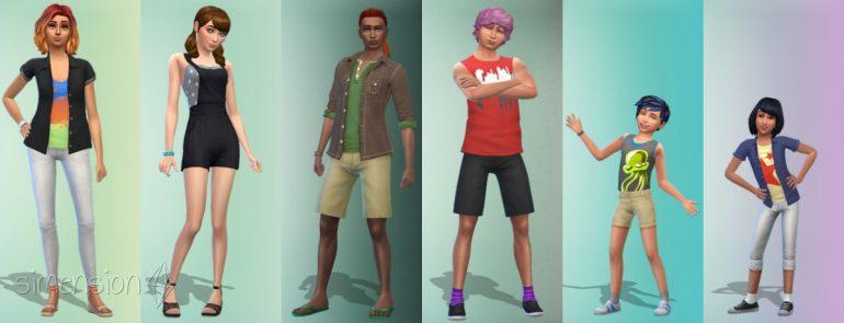 Die Sims 4 Gartenspaß mit 6 vorgefertigten Looks