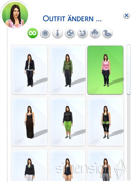 Outfit ändern und alle angezeigt bekommen in Die Sims 4