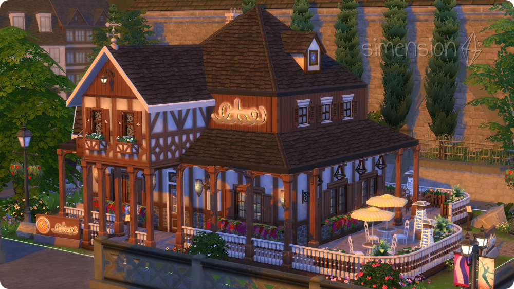 Sims 4 hauser zum nachbauen m bel ideen innenarchitektur for Sims 4 dach bauen
