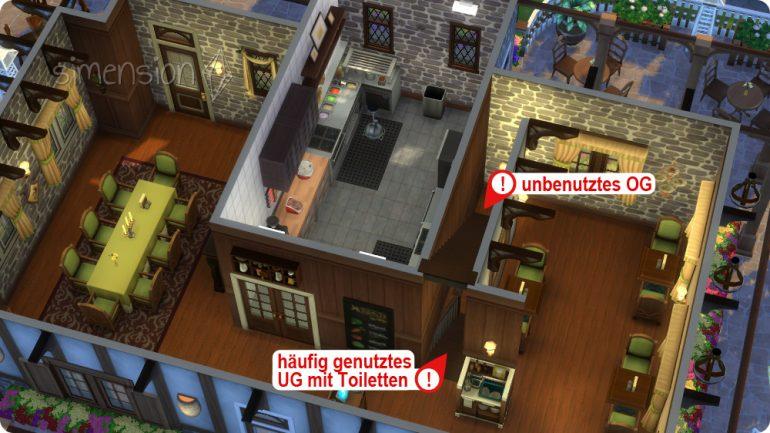 Treppen in selbst gebauten Restaurants sinnvoll verbauen