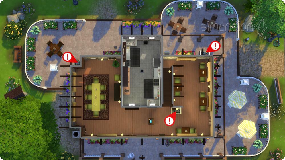 die sims 4 tutorial eigenes restaurant einrichten 2 2 simension. Black Bedroom Furniture Sets. Home Design Ideas