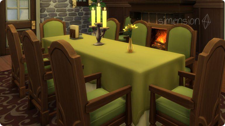 Die Sims 4 Restaurant einrichten mit Tisch für 8 Gäste