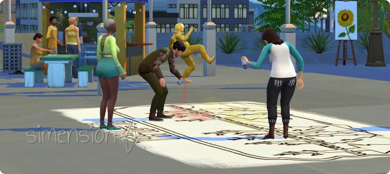 Street-Art sprayen mit der Die Sims 4 Fähigkeit Malerei