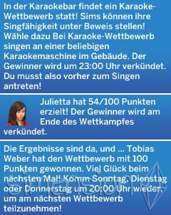 Die Sims 4 Fähigkeit Singen mit Karaoke-Wettbewerben