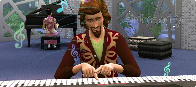 eigene Lieder komponieren mit der Die Sims 4 Fähigkeit Singen