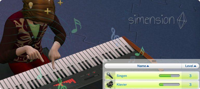 Die Sims 4 Fähigkeit Singen mit Instrumenten verbessern