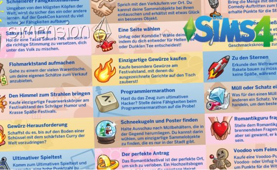 Die Sims 4 Festivals
