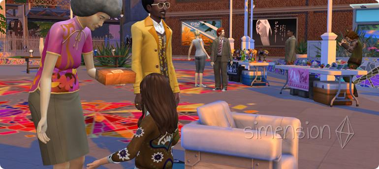 Die Sims 4 Festival Flohmarkt