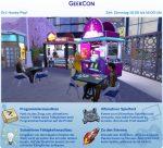 Die Sims 4 Festivals: Ankündigung des Festivals GeekCon
