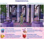 Die Sims 4 Festivals: Ankündigung des Romantikfestivals