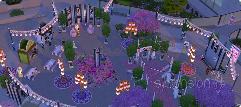 Die Sims 4 Romantikfestival