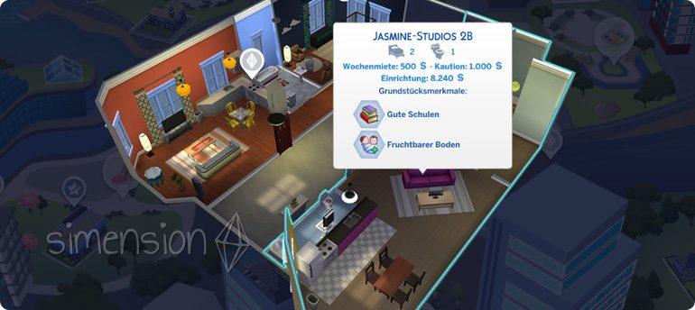 Die Sims 4 Großstadtleben mit dem Leben in Appartment