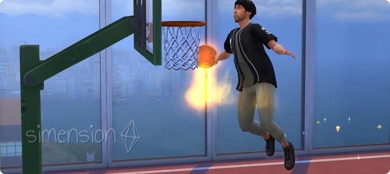mit Basketball die Fähigkeit Fitness aufbauen in Die Sims 4 Großstadtleben