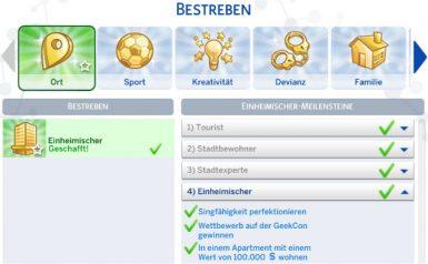 Die Sims 4 Großstadtleben mit neuem Bestreben Einheimischer
