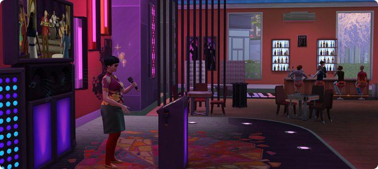 Karaokebar in Die Sims 4 Großstadtleben