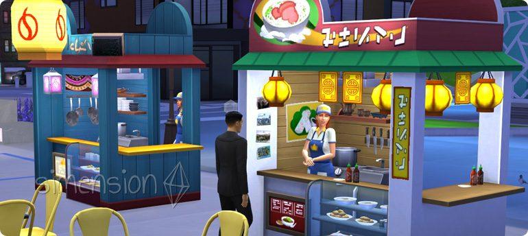 Imbisse mit internationalen Rezepten in Die Sims 4 Großstadtleben