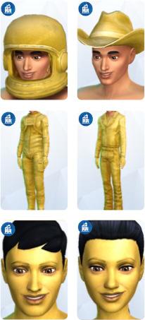 Die Sims 4 Großstadtleben mit Verkleidungen für lebendige Statuen