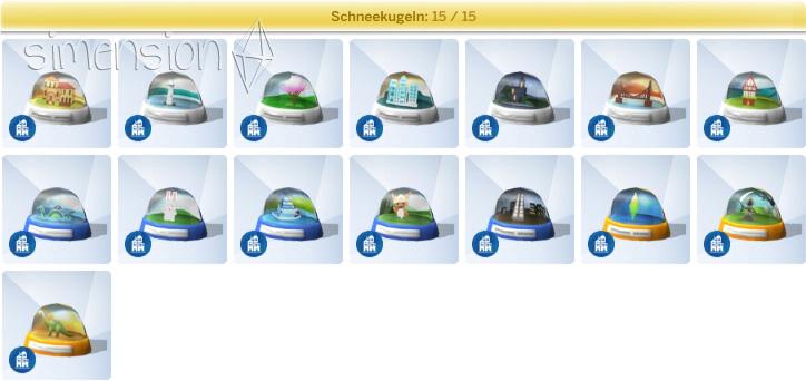Die Sims 4 Großstadtleben mit der Sammlung Schneekugeln aus