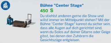 Bühne Center Stage für Straßenkünstler in Die Sims 4 Großstadtleben