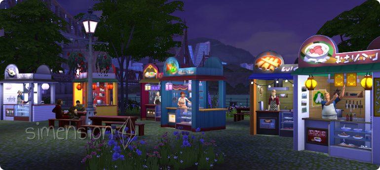 Die Sims 4 Imbisswgen für internationale Rezepte