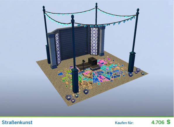 Gestaltetes Zimmer Straßenkunst für Kunstkritiker der Die Sims 4 Karriere Kunstkritiker