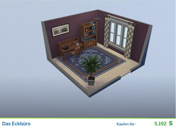 Gestaltetes Zimmer Das Eckbüro für Politiker der Die Sims 4 Karriere Politik