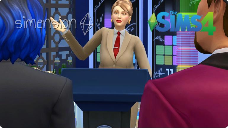 Die Sims 4 Karriere Politik Politiker Stiftungsverwalter Simension