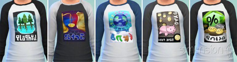 Die Sims 4 Proteste mit passenden Protestshirts