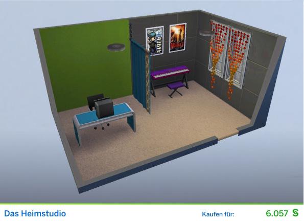 Gestaltetes Zimmer Das Heimstudio für Online-Persönlichkeiten der Die Sims 4 Karriere Soziale Medien