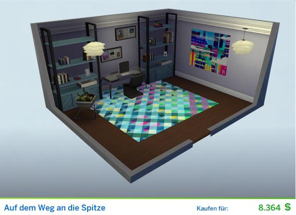 Gestaltetes Zimmer Aif dem Weg an die Spitze für PRs der Die Sims 4 Karriere Soziale Medien